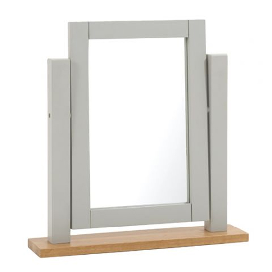 Sandringhia Dressing Table Mirror In Oak And Grey Frame