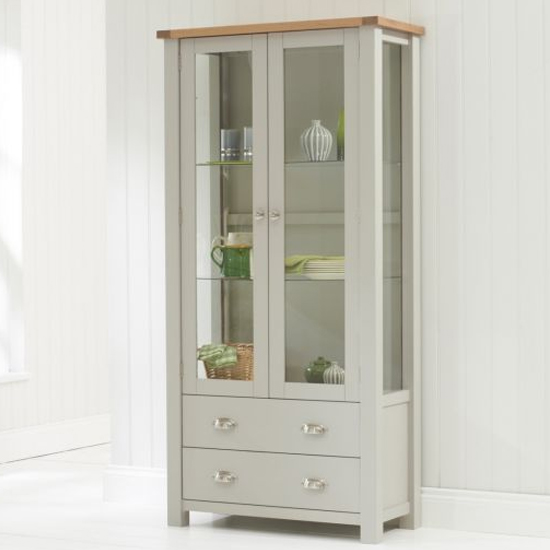 Sandringhia Wooden Display Unit In Oak And Grey_2