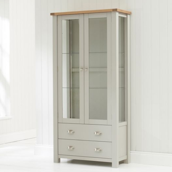 Sandringhia Wooden Display Unit In Oak And Grey_3