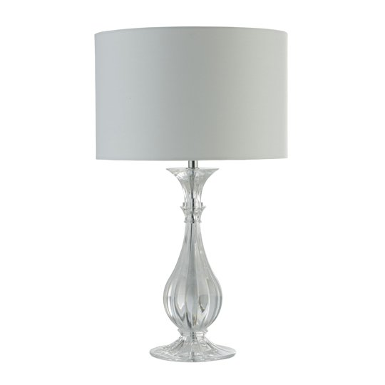 Sanna 1 Light Table Lamp In Acrylic With White Shade