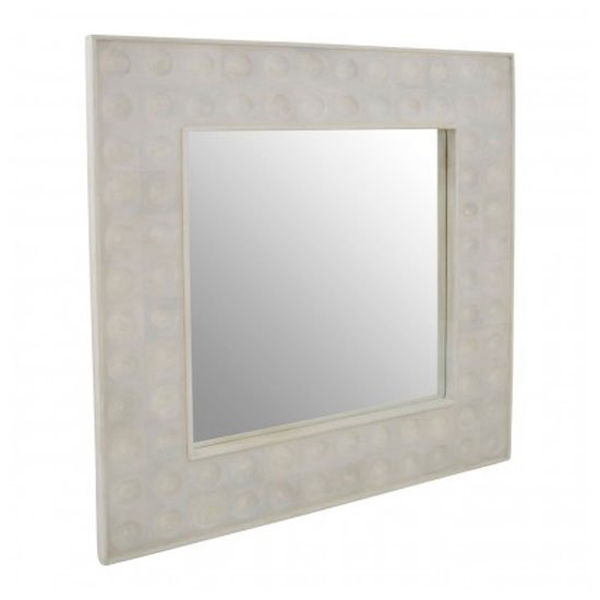 Santeria Square Wall Bedroom Mirror In Weathered White Frame_2