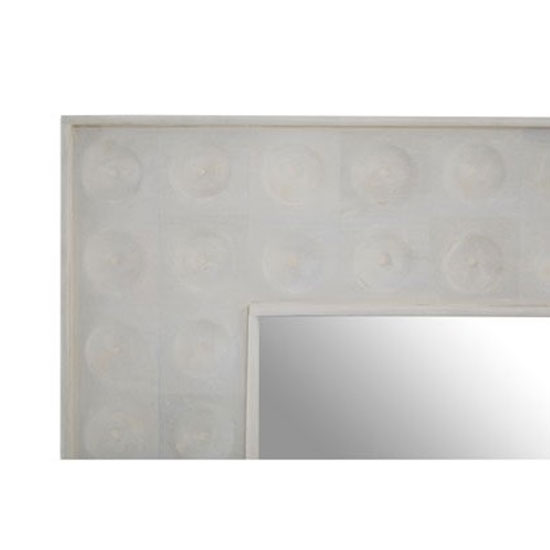 Santeria Square Wall Bedroom Mirror In Weathered White Frame_3
