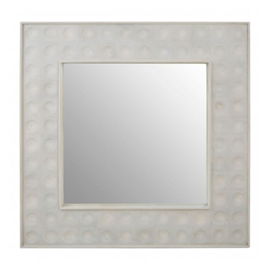 Santeria Square Wall Bedroom Mirror In Weathered White Frame_1