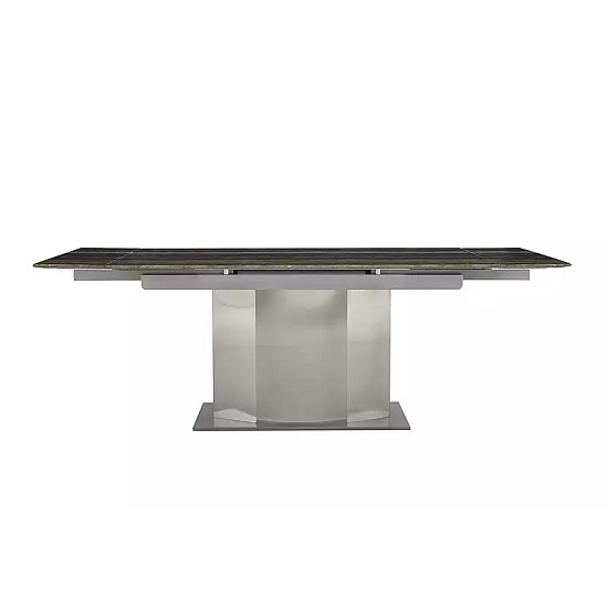 Santino Extendable Marble Dining Table In Travertine