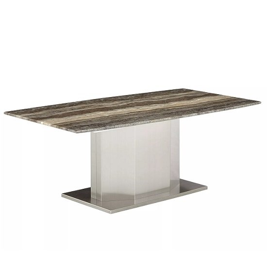 Marble Coffee Table Rectangular: Santino Marble Coffee Table Rectangular In Travertine 35791
