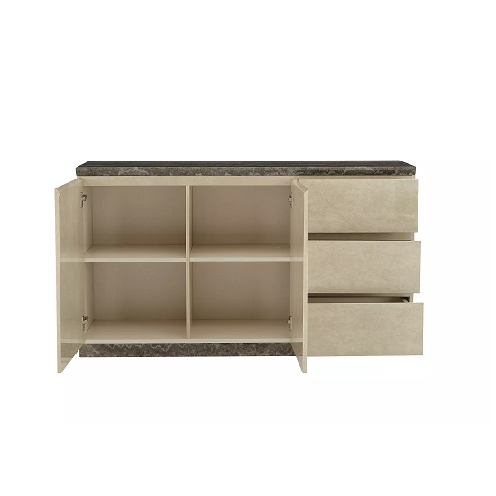 Santino Marble Top Sideboard With 2 Doors And 3 Drawers_2