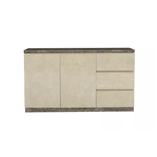 Santino Marble Top Sideboard With 2 Doors And 3 Drawers_4