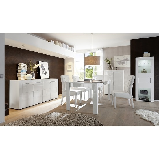 Santino Sideboard In White High Gloss With 4 Doors_3