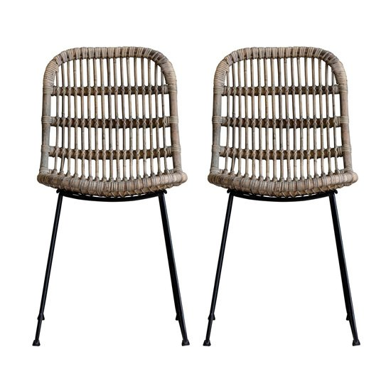 Santo Oak Wooden Dining Chairs In Pair_1