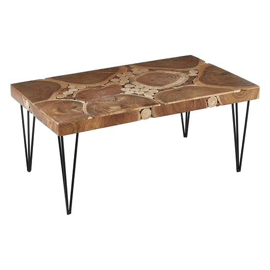 Santorini Wooden Coffee Table Rectangular In Acacia Wood_1