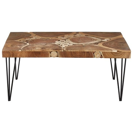 Santorini Wooden Coffee Table Rectangular In Acacia Wood_2