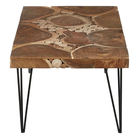 Santorini Wooden Coffee Table Rectangular In Acacia Wood_3
