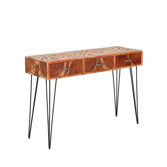 Santorini Wooden Console Table Rectangular In Acacia Wood
