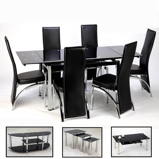 MEGA SALE!! Sarah Living Room And 6 Seater Dining Room Set