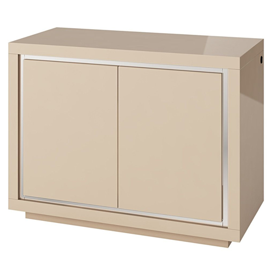 Sardinia LED Sideboard In Cream High Gloss With 2 Doors