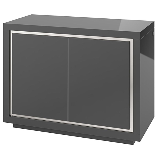 Sardinia LED Sideboard In Grey High Gloss With 2 Doors_1