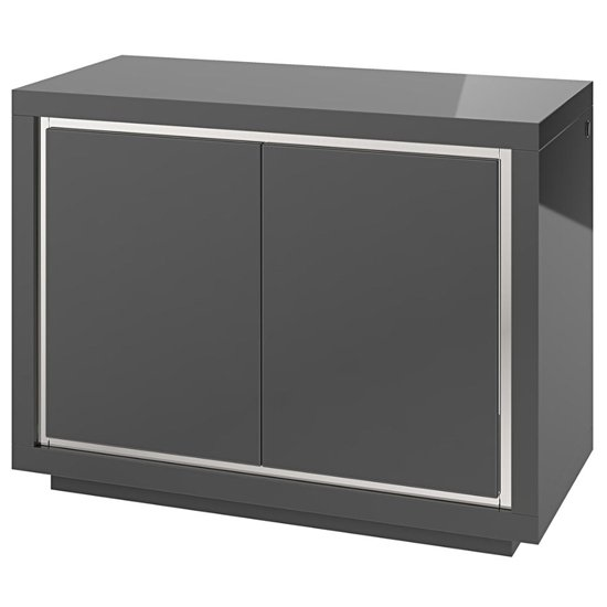 Sardinia LED Sideboard In Grey High Gloss With 2 Doors
