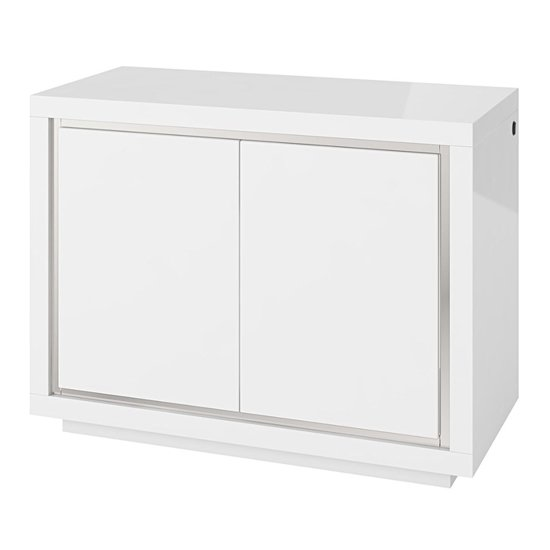 Sardinia LED Sideboard In White High Gloss With 2 Doors