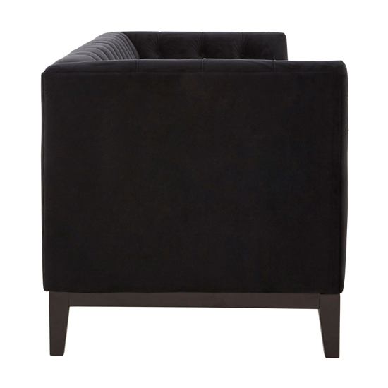 Okab 3 Seater Velvet Sofa In Black     _3
