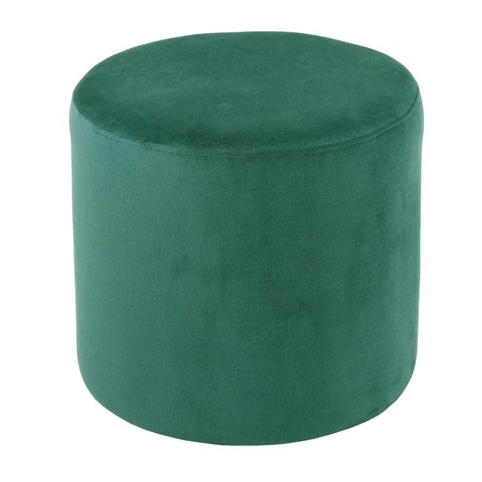 Savannah Soft Velvet Stool In Forest Green_1