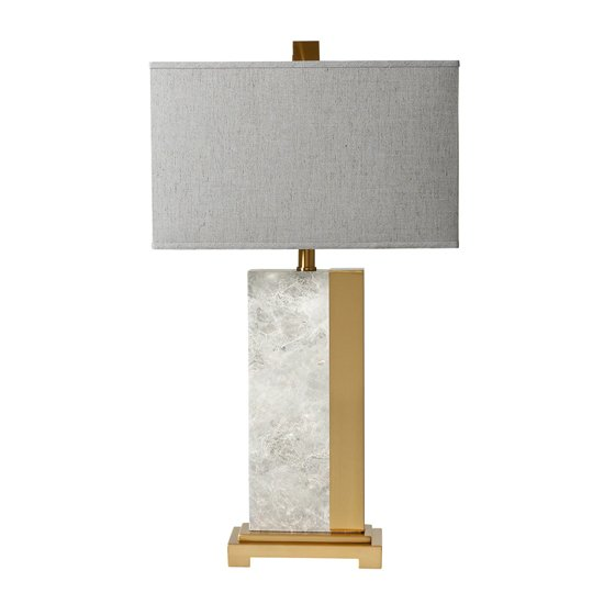 Savannah Table Lamp With Grey Marble Inspired Base