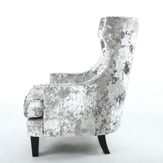 Savoy Arm Chair In Crushed Velvet Silver With Black Legs_3