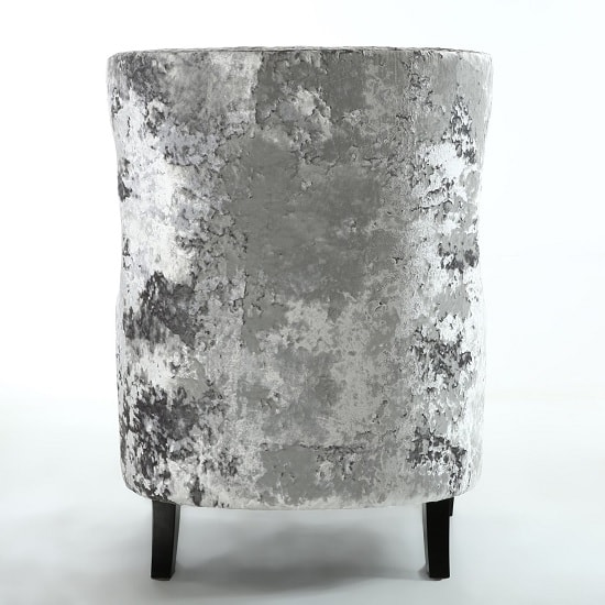 Savoy Arm Chair In Crushed Velvet Silver With Black Legs_4