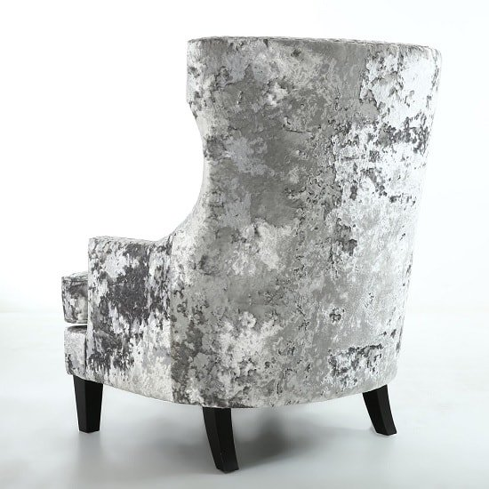 Savoy Arm Chair In Crushed Velvet Silver With Black Legs_5