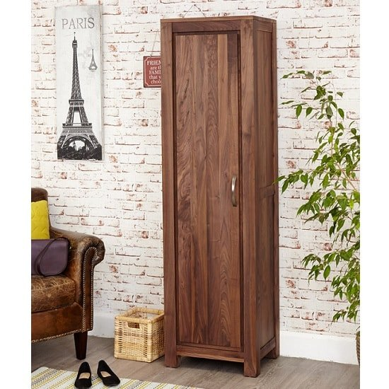 Sayan Wooden Shoe Cupboard In Walnut With 1 Door