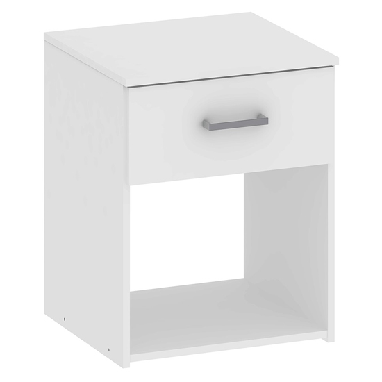 Scalia Wooden Bedside Cabinet In White With 1 Drawer_2