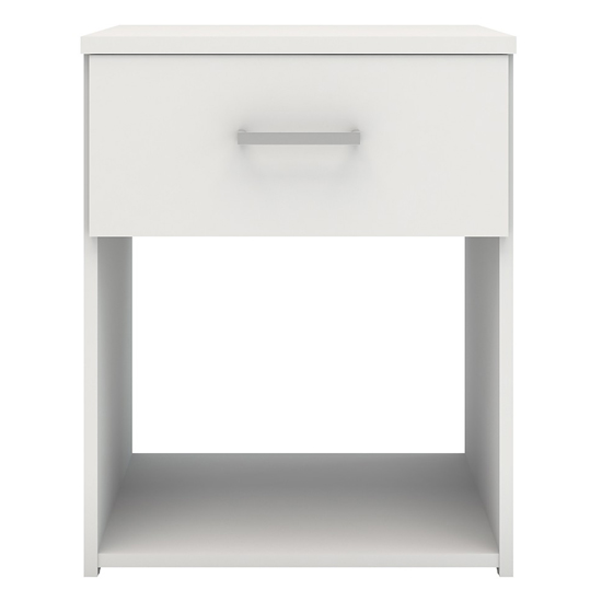 Scalia Wooden Bedside Cabinet In White With 1 Drawer_3