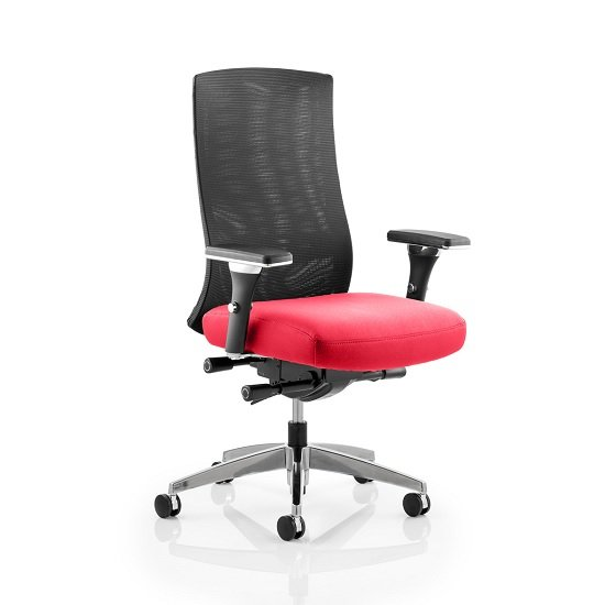 Scarlet Home Office Chair In Cherry With Castors