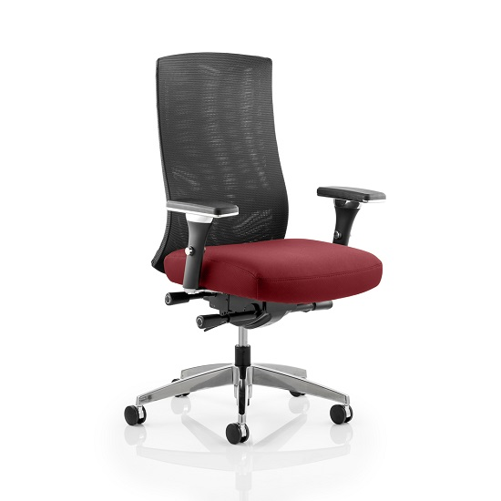 Scarlet Home Office Chair In Chilli With Castors