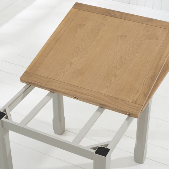 Schedar Flip Top Dining Table In Oak And Grey_2
