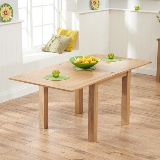 Schedar Flip Top Extending Dining Table In Oak