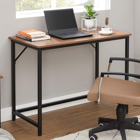 View Scranton rectangular wooden computer desk in hazelnut brown