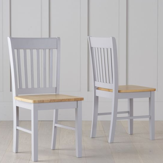 Sculptor Oak And Grey Dining Chairs In Pair