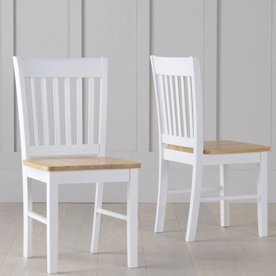 Sculptor Oak And White Dining Chairs