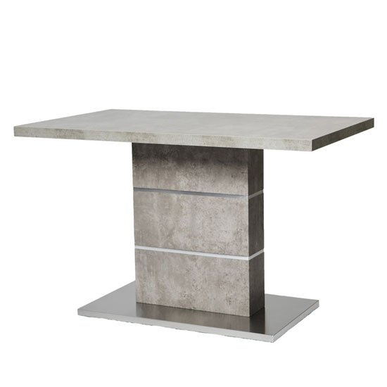 Seattle Marble Effect Dining Table With Brushed Steel Base