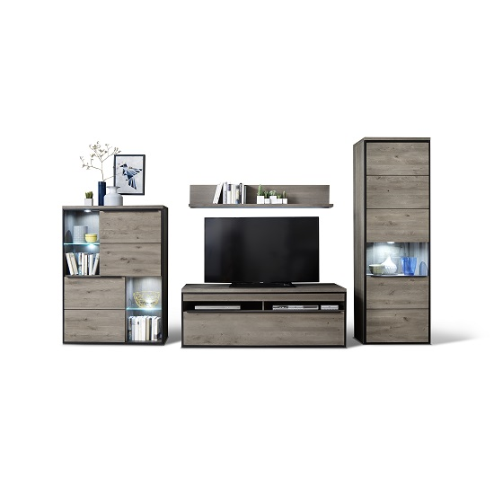 Seattle Living Room Furniture Set 1 In Oak Stone Grey With LED_3