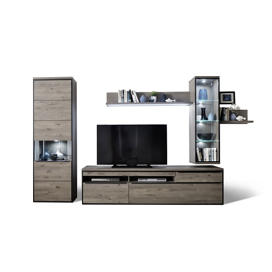 Living Room Furniture Seattle Seattle Living Room Furniture Set 3 In Oak Grey With