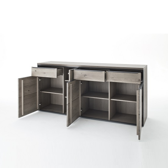 Seattle Sideboard In Oak And Stone Grey With Metal Accents_11