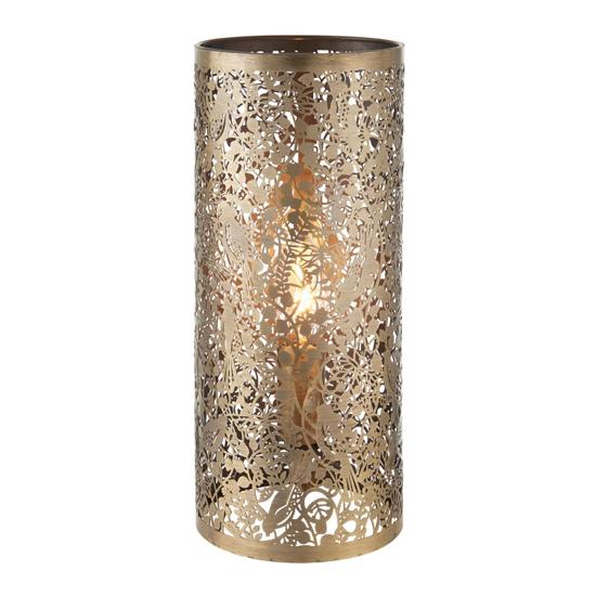 View Secret garden table lamp in antique brass