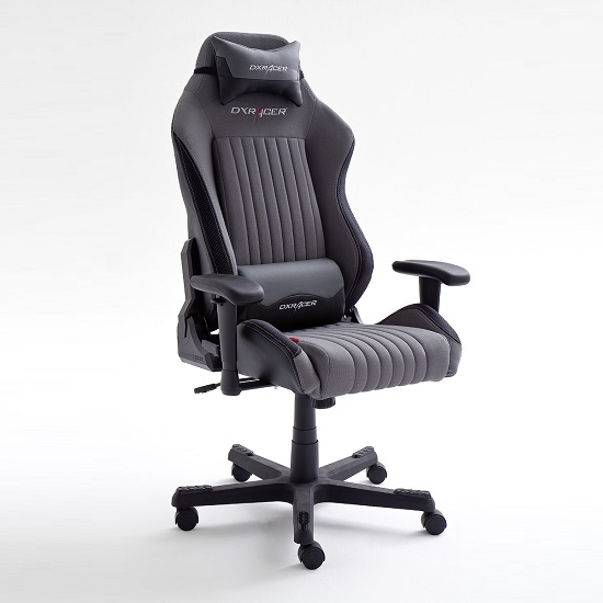 Sedan Home Office Chair In Black And Grey With Castors_1