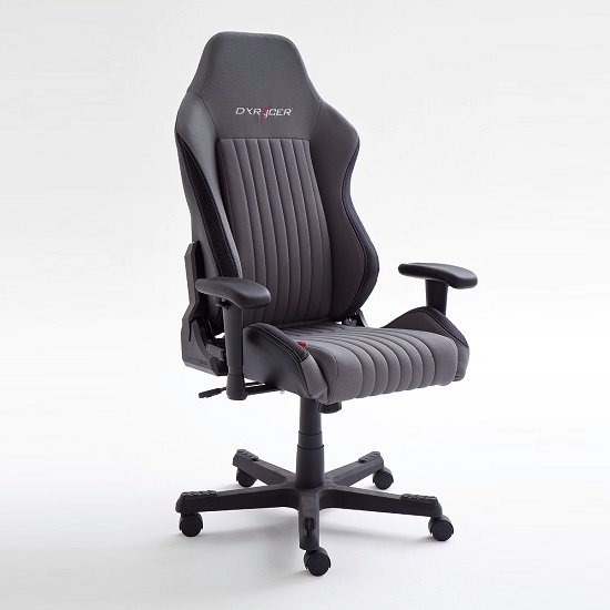 Sedan Home Office Chair In Black And Grey With Castors_2