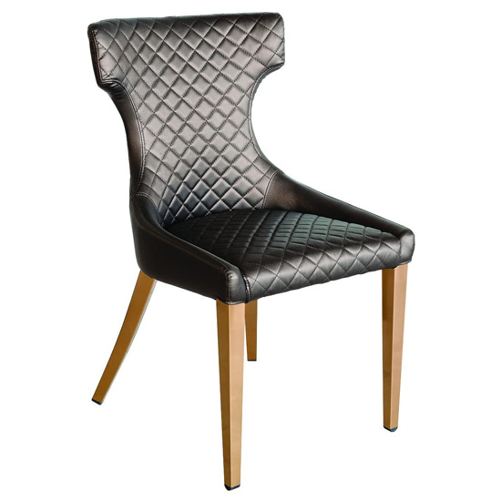 Segin Faux Leather Dining Chair In Shiny Bronze_1