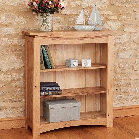 View Seldon contemporary bookcase small in oak