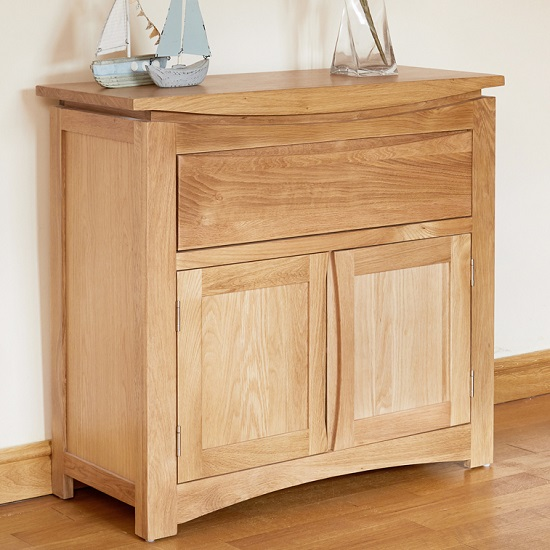 Seldon Contemporary Compact Sideboard In Oak With 2 Doors_1