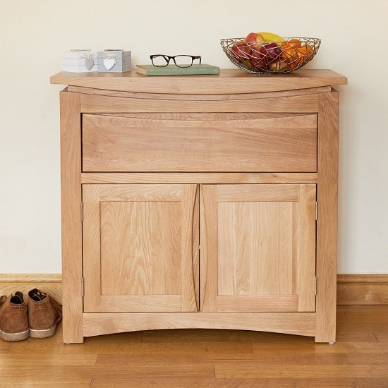 Seldon Contemporary Compact Sideboard In Oak With 2 Doors_3