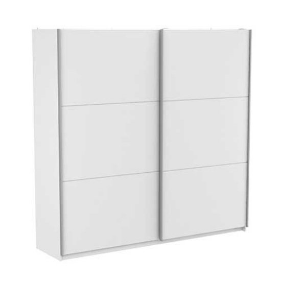 Selsey Sliding Wardrobe Extra Large In Matt White With 2 Doors